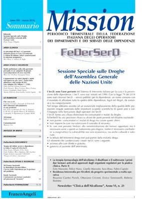 Sfoglia l'ultimo numero di Mission, periodico trimestrale di Federserd